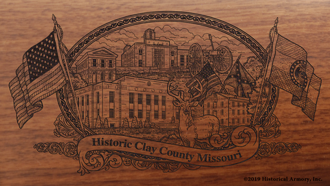 Clay County Missouri Engraved Rifle