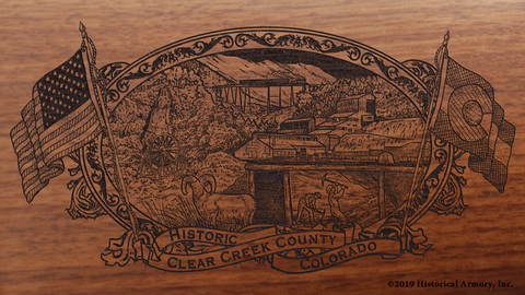Clear Creek County Colorado Engraved Rifle