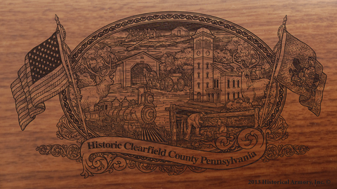 Clearfield County Pennsylvania Engraved Rifle
