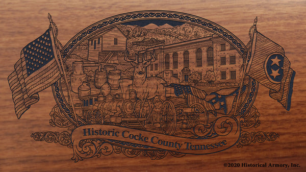Cocke County Tennessee Engraved Rifle Buttstock