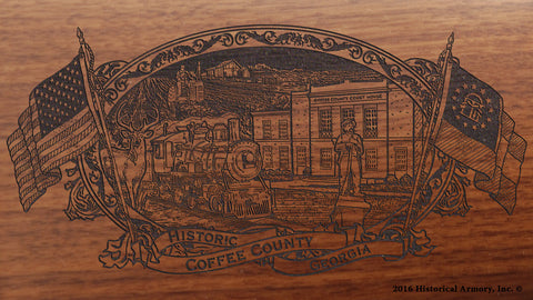Coffee County Georgia Engraved Rifle