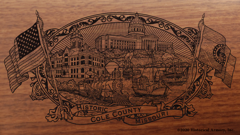 Cole County Missouri Engraved Rifle