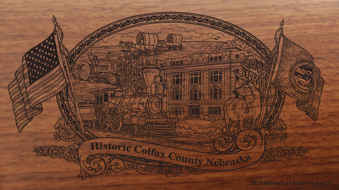 Colfax County Nebraska Engraved Rifle