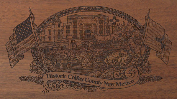 colfax county new mexico engraved rifle buttstock