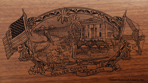 Collier County Florida Engraved Rifle