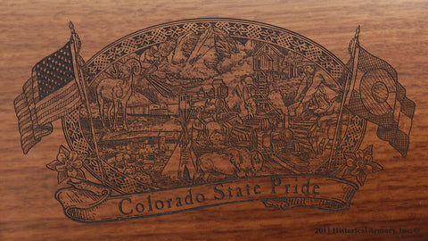 colorado state engraved rifle buttstock