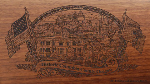 columbia county oregon engraved rifle buttstock