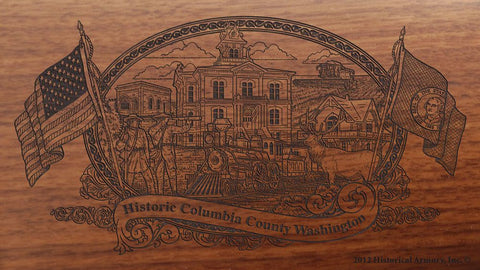 columbia county washington engraved rifle buttstock