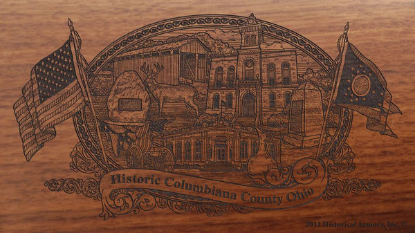columbiana county ohio engraved rifle buttstock