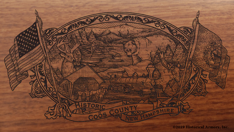 Coös County New Hampshire Engraved Rifle