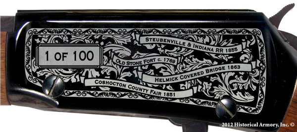 coshocton county ohio engraved rifle h001 receiver