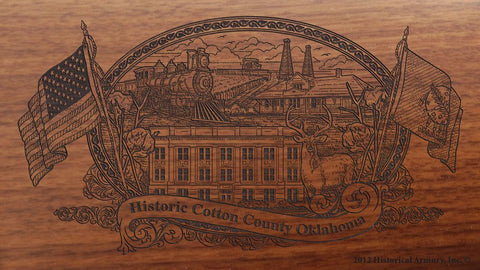 cotton county oklahoma engraved rifle buttstock
