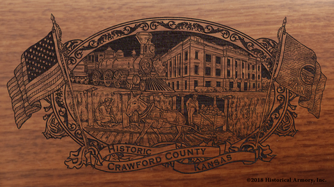 Crawford County Kansas Engraved Rifle