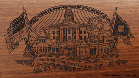 Crawford County Ohio Engraved Rifle