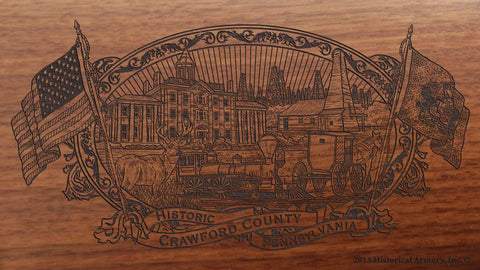 crawford county pennsylvania engraved rifle buttstock