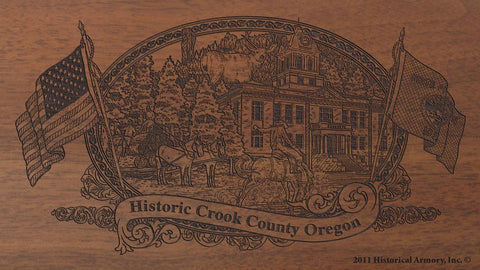 crook county oregon engraved rifle buttstock