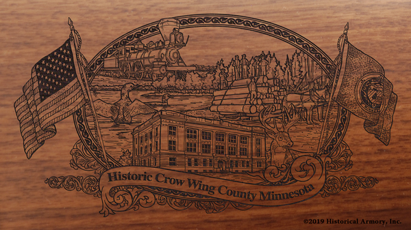 Crow Wing County Minnesota Engraved Rifle