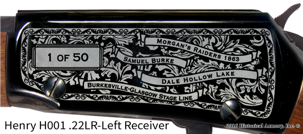 Cumberland County Kentucky Engraved Rifle