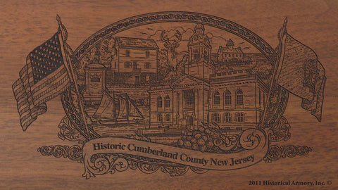 cumberland county new jersey engraved rifle buttstock