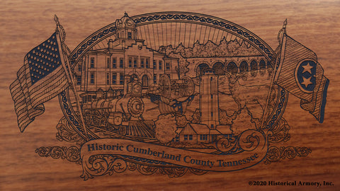 Cumberland County Tennessee Engraved Rifle Buttstock