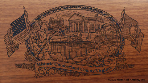 Cumberland County Virginia Engraved Rifle Buttstock