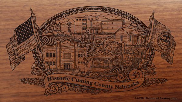 Cuming County Nebraska Engraved Rifle