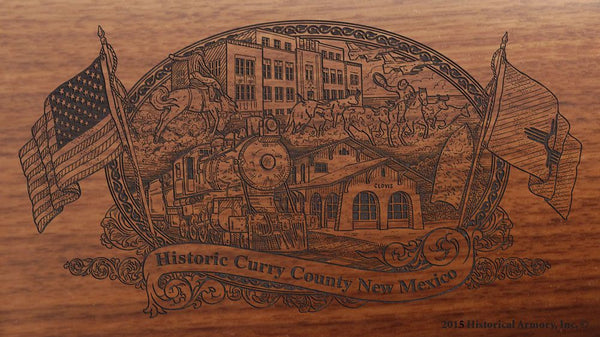 curry county new mexico engraved rifle buttstock