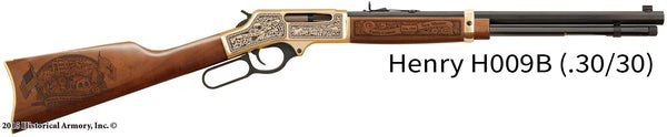 Curry County New Mexico Engraved Rifle