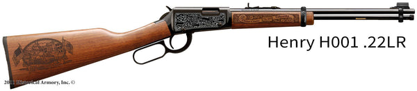 Custer County Nebraska Engraved Rifle