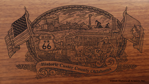 Custer County Oklahoma Engraved Rifle