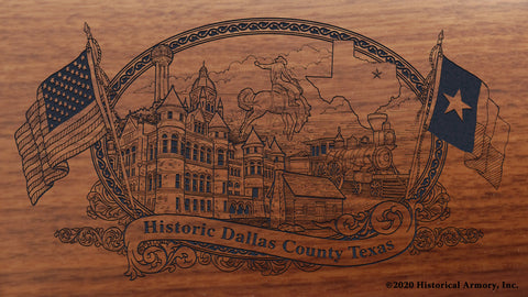 Dallas County Texas Engraved Rifle Buttstock