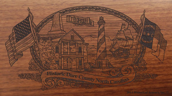 dare county north carolina engraved rifle buttstock