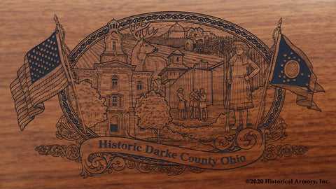 Darke County Ohio Engraved Rifle Buttstock