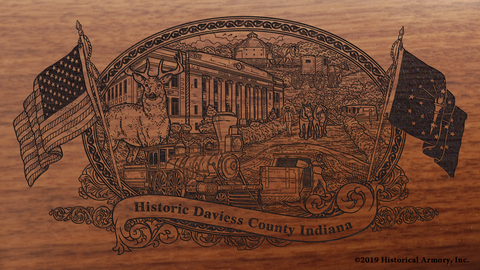 Daviess County Indiana Engraved Rifle