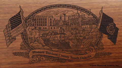 Davison County South Dakota Engraved Rifle