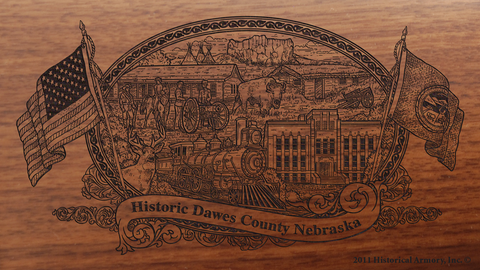 Dawes County Nebraska Engraved Rifle
