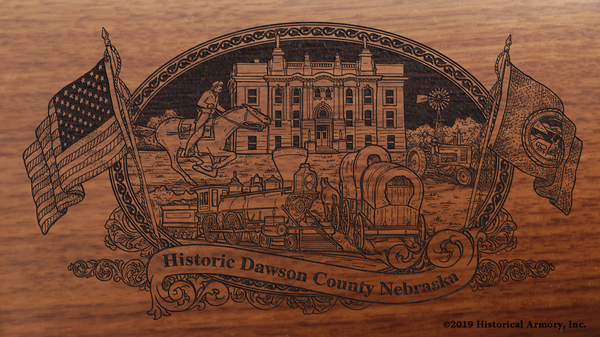 Dawson County Nebraska Engraved Rifle
