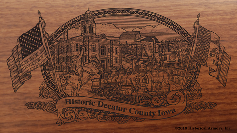 Decatur County Iowa Engraved Rifle