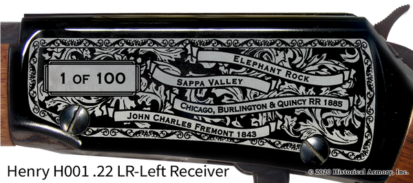 Decatur County Kansas Engraved Rifle