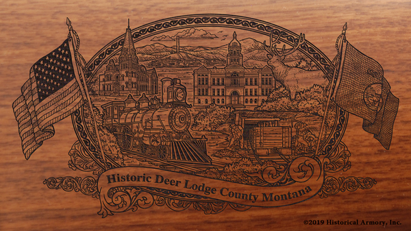 Deer Lodge County Montana Engraved Rifle