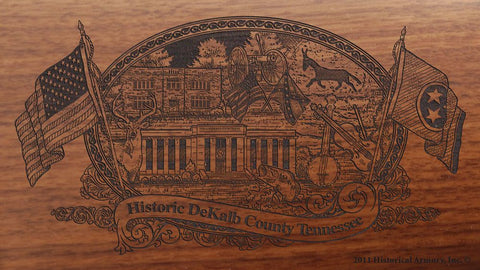 dekalb county tennessee engraved rifle buttstock