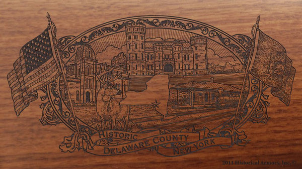 delaware county new york engraved rifle buttstock
