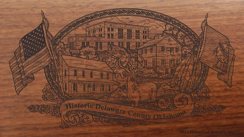 delaware county oklahoma engraved rifle buttstock