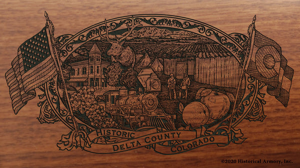 Delta County Colorado Engraved Rifle Buttstock