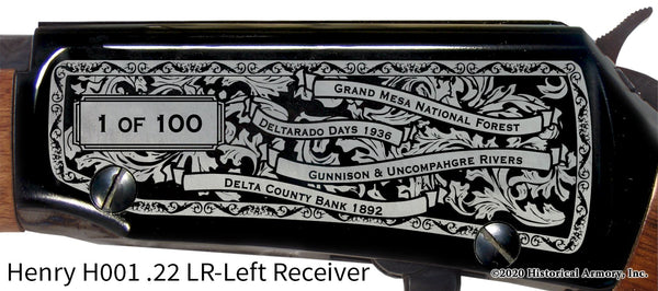 Delta County Colorado Engraved Henry H001 Rifle