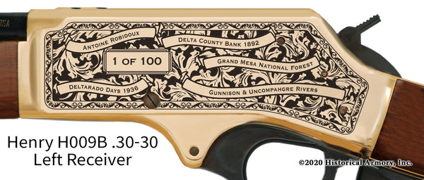 Delta County Colorado Engraved Henry .30-30 Rifle