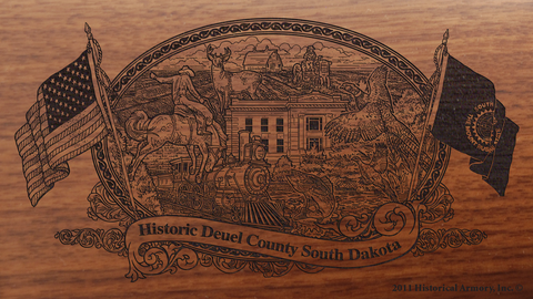 Deuel County South Dakota Engraved Rifle