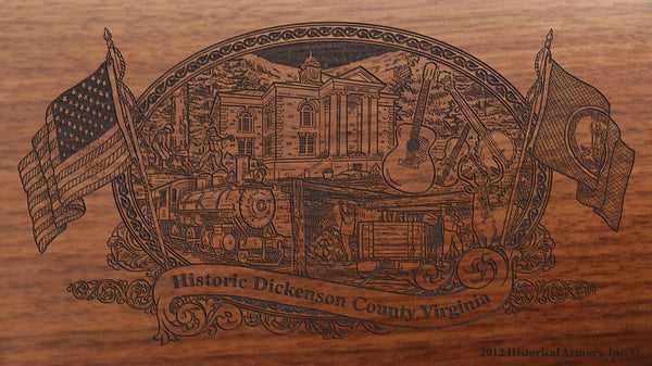 dickenson county virginia engraved rifle buttstock