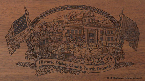 dickey county north dakota engraved rifle buttstock
