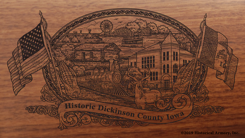 Dickinson County Iowa Engraved Rifle